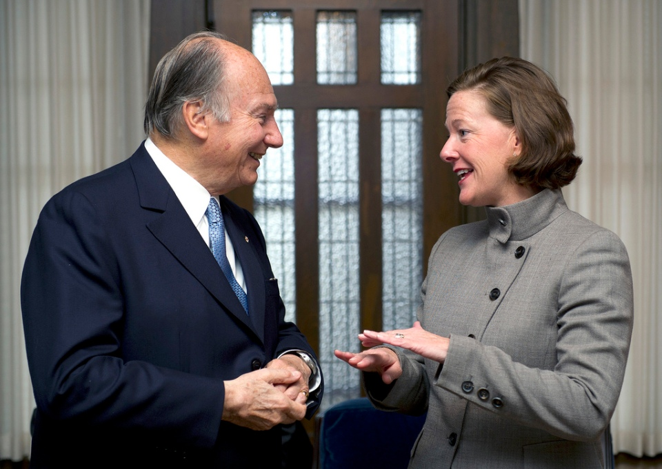 Premier Alison Redford and His Highness the Aga Khan