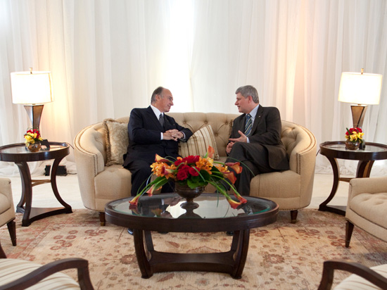 His Highness the Aga Khan and Prime Minister Stephen Harper.