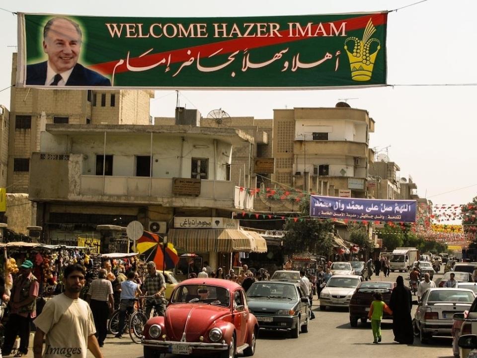 A street in Salamiyya, Syria
