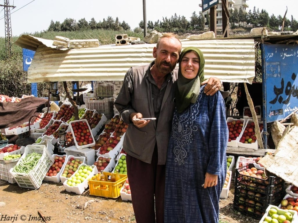 A fruit vendor in Salamiyya, Syria.