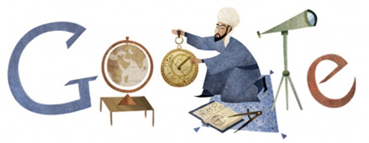 On February 18, 2013 Google decided to recognize Nasir al-Din Tusi by placing appropriate images of him and his works in place of the Google Doodle. Tusi was born on the 18th of February 1201 in Khorasan and died on the 26th of June 1274.