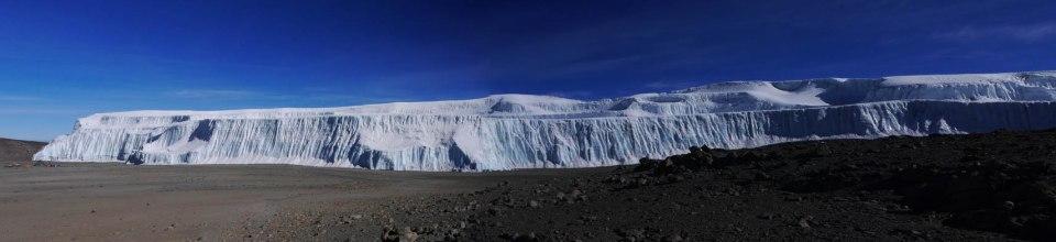 Kilimanjaro's Northern icefield