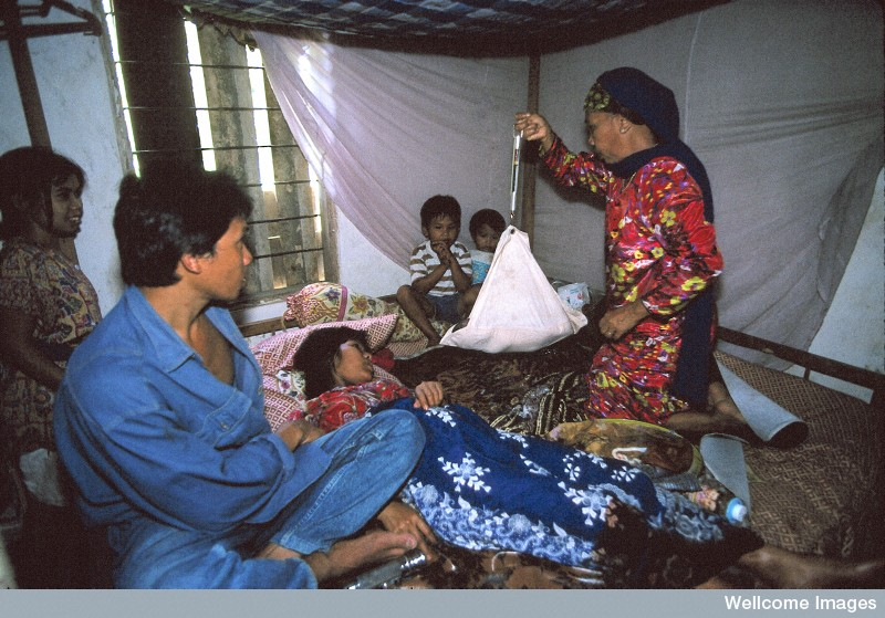 N0026574 Life in rural Indonesia. Post-natal care.