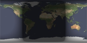 Earth Cylindrical Projection 2013-03-21 0000UT