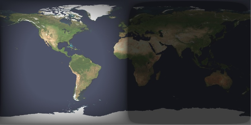Earth Cylindrical Projection 2013-03-21 0018UT