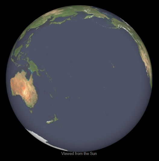 Earth Spherical View 2013-03-21 0000UT