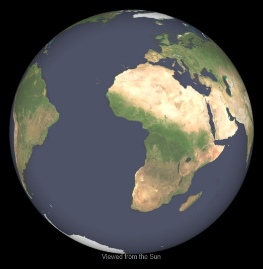 Earth Spherical View 2013-03-21 0012UT