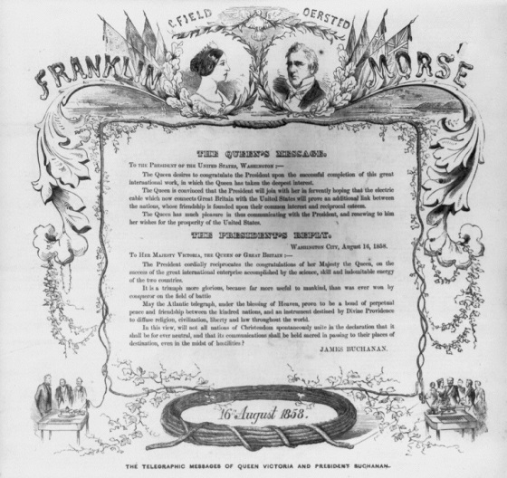 Queen Victoria and President Buchanan Telegraphic Exchange
