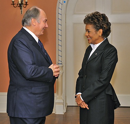 The Governor General of Canada with His Highness the Aga Khan