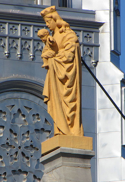 Madonna statue Notre Dame Cathedral Ottawa
