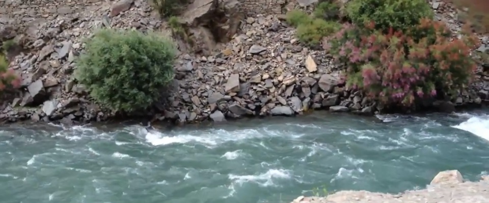 Rushing Waters of Chitral River