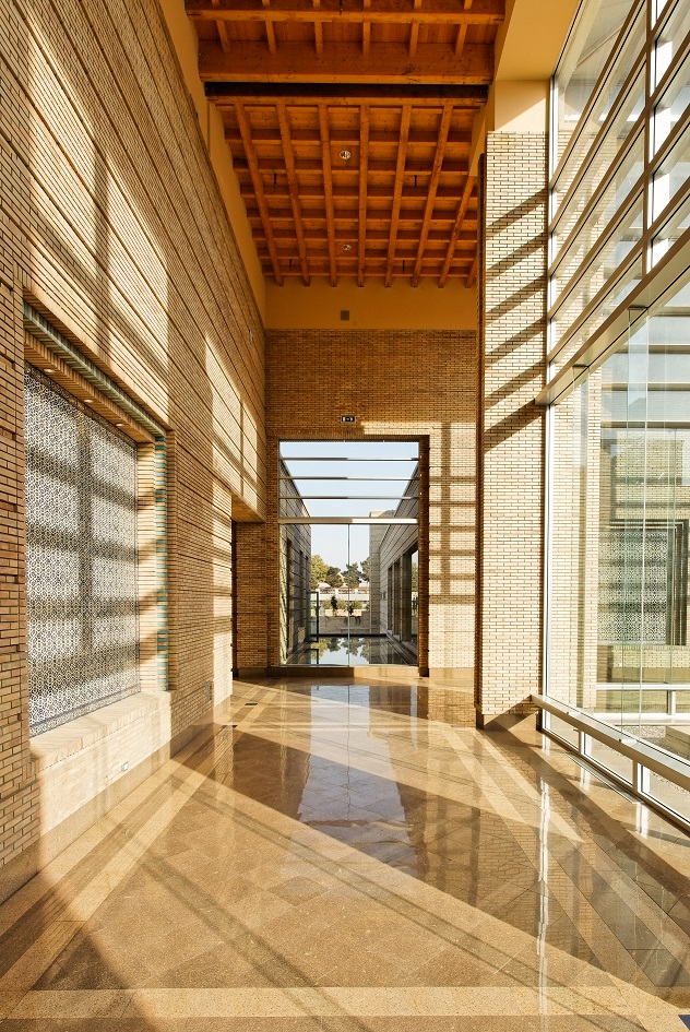 A view into concourse of the Ismaili Centre in Dushanbe. Photo: FNDA Architecture Inc. Copyright.