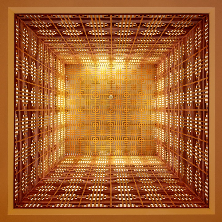 Interior detail in tower of the Ismaili Centre in Dushanbe. Photo: 2012 FNDA Architecture Inc. Copyright.