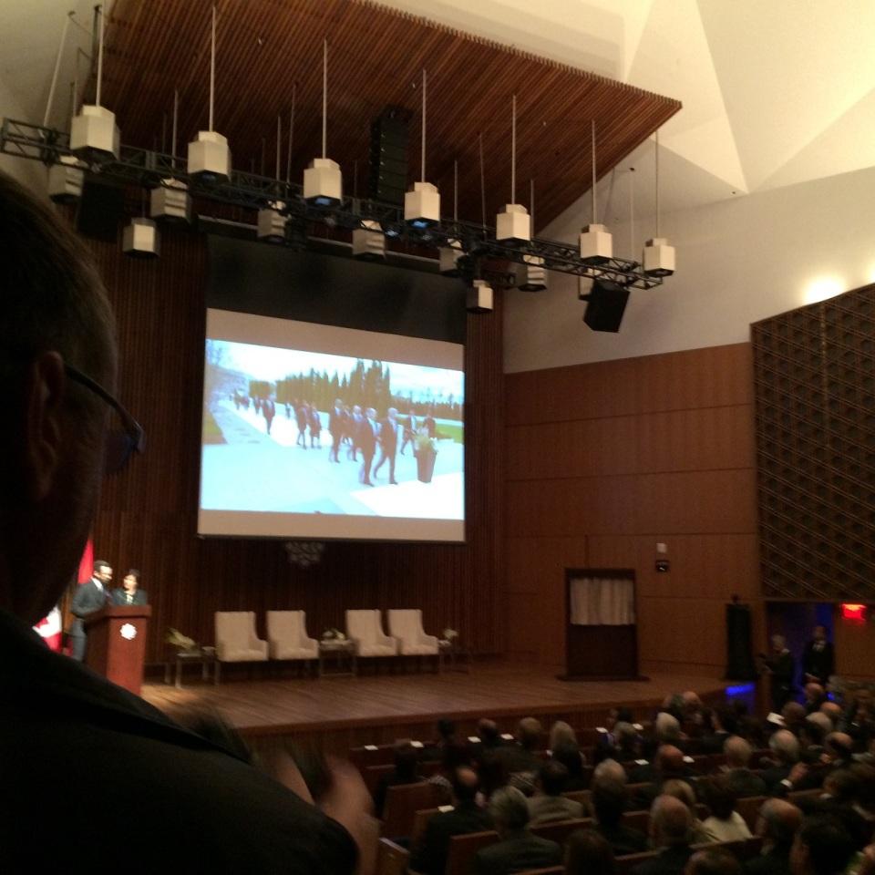 Auditorium audience await arrrival