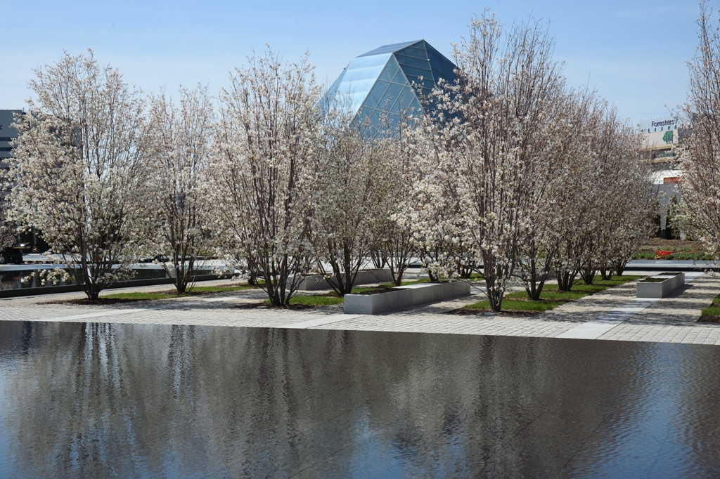 Aga Khan Park with the dome of the Ismaili Centre in view. Photo: AKDN/Moez Visram. Copyright.