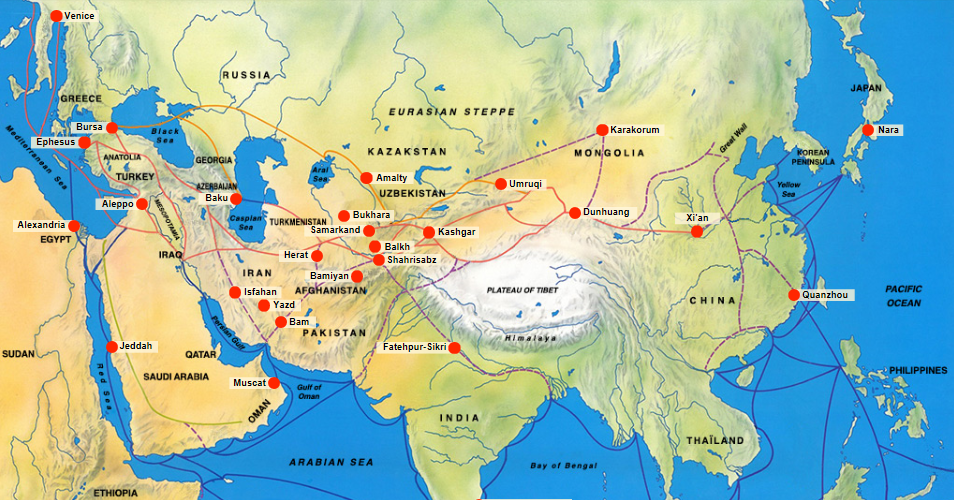 UNESCO Silk Road Map 2