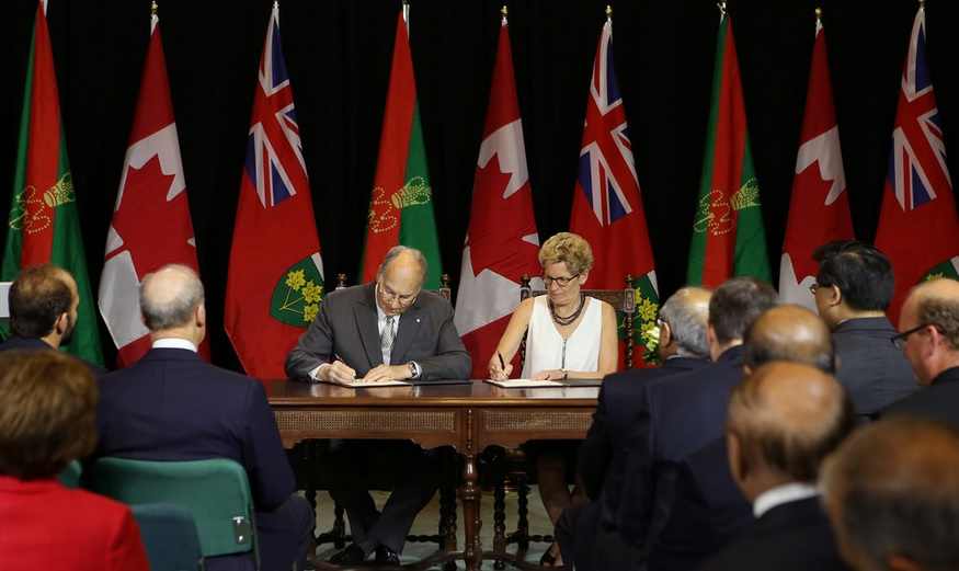 016-02 Aga Khan 2015 Government of Ontario Agreement
