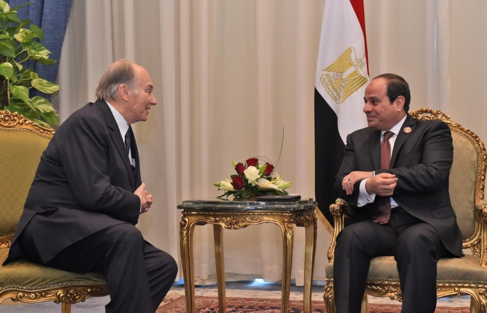 His Highness the Aga Khan and President Sisi