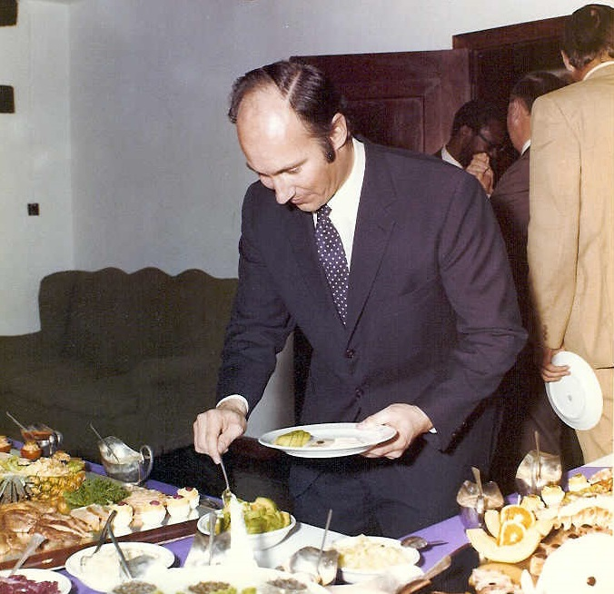 His Highness the Aga Khan being entertainedby Frank and Doris Pattrick