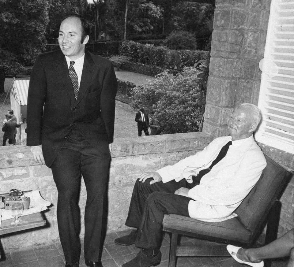 His Highness the Aga Khan, Mawlana Hazar Imam, with Mr Frank Pattrick