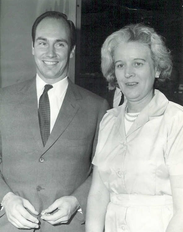 His Highness the Aga Khan with Doris Pattrick in 1966