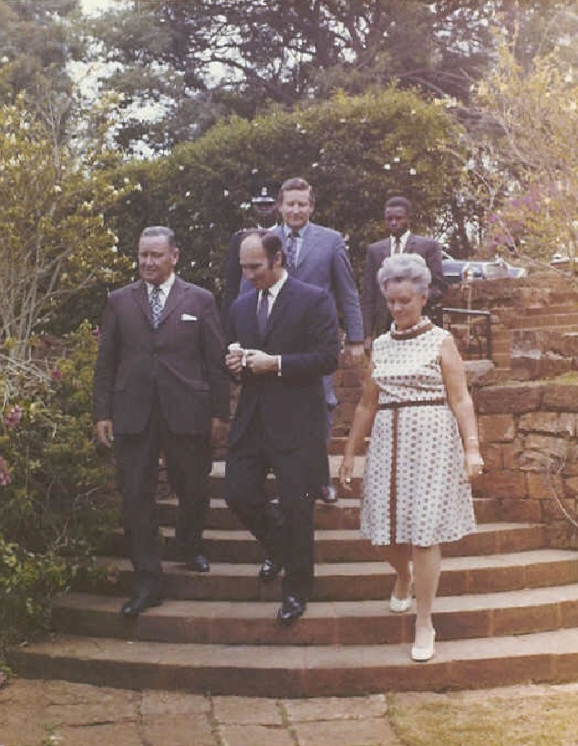 His Highness the Aga Khan with Frank and Doris Pattrick