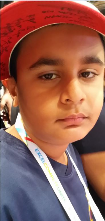Riyaan sad at the outcome of the finals - Team USA Blue's loss against Team USA Red