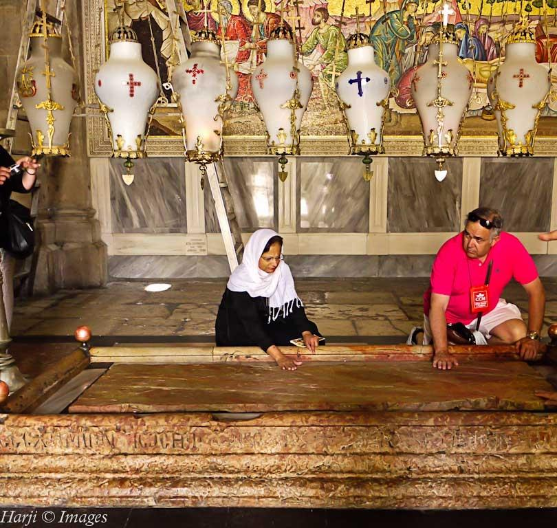 Muslim Harji Sacred Spaces Christian Simergphotos Stone of Anointing