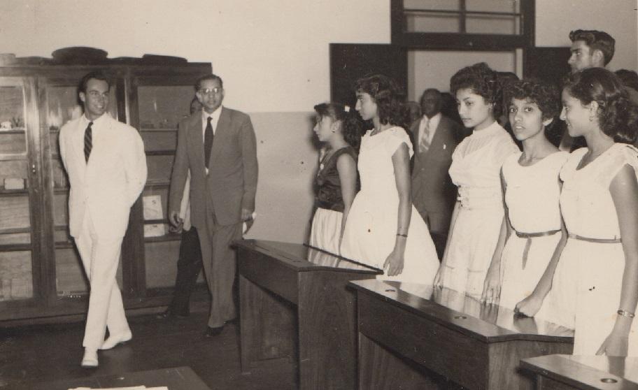 019a Mawlana Hazar Imam entering a classroom in LM