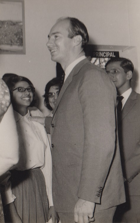 030b Mawlana Hazar Imam at Aga Khan Girls as Alwaez and Alwaeza Merchant look on