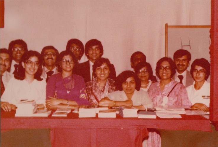 036 Alwaez and Alwaeza Merchant at Lit Counter desk 1979 Visit