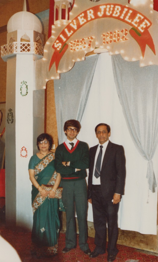 038b Alnoor with dad and mum at London Silver Jubilee
