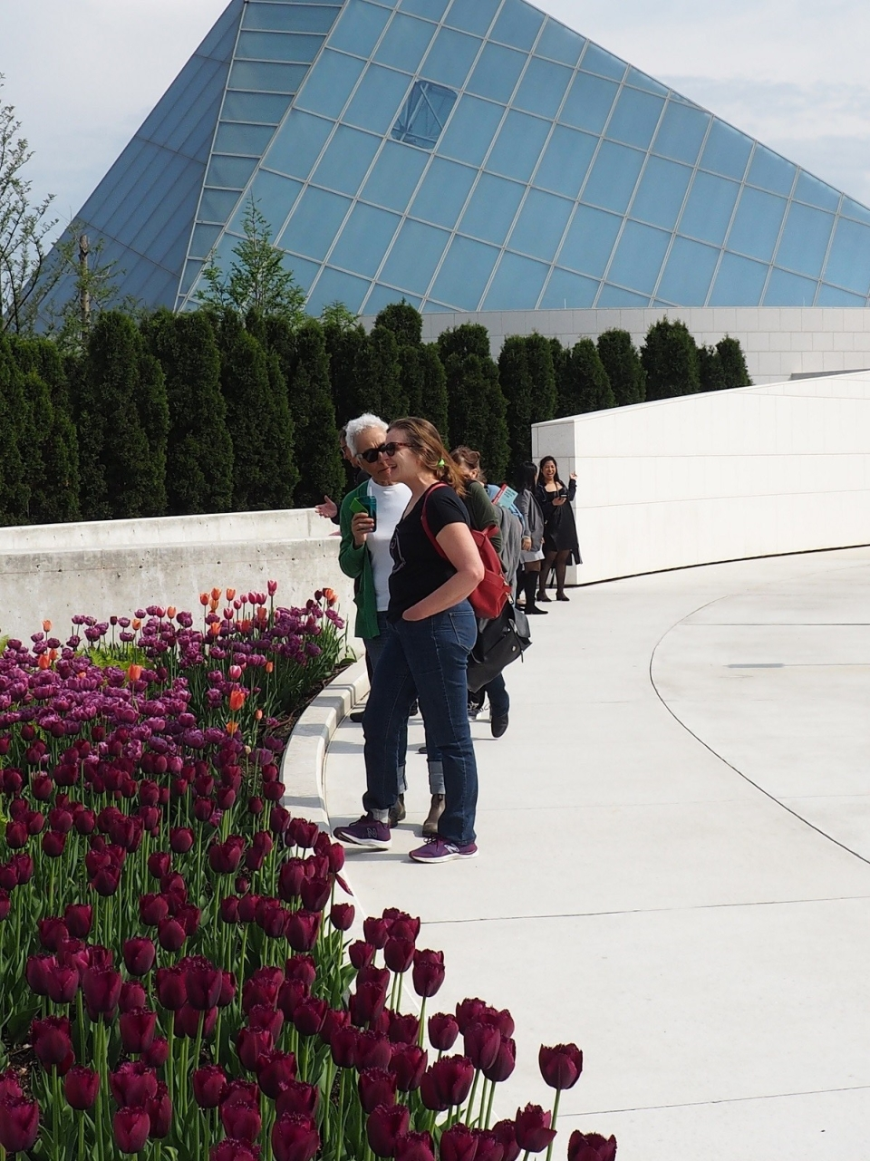 Tulip bed outside the Ismaili Centre