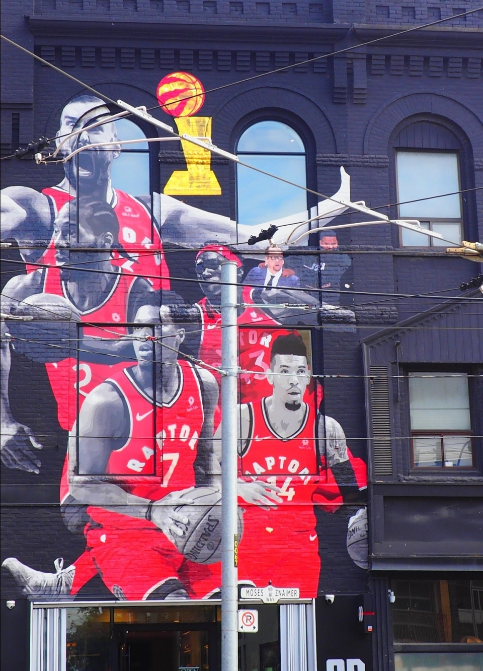 Toronto Raptors Mural on Queen Street