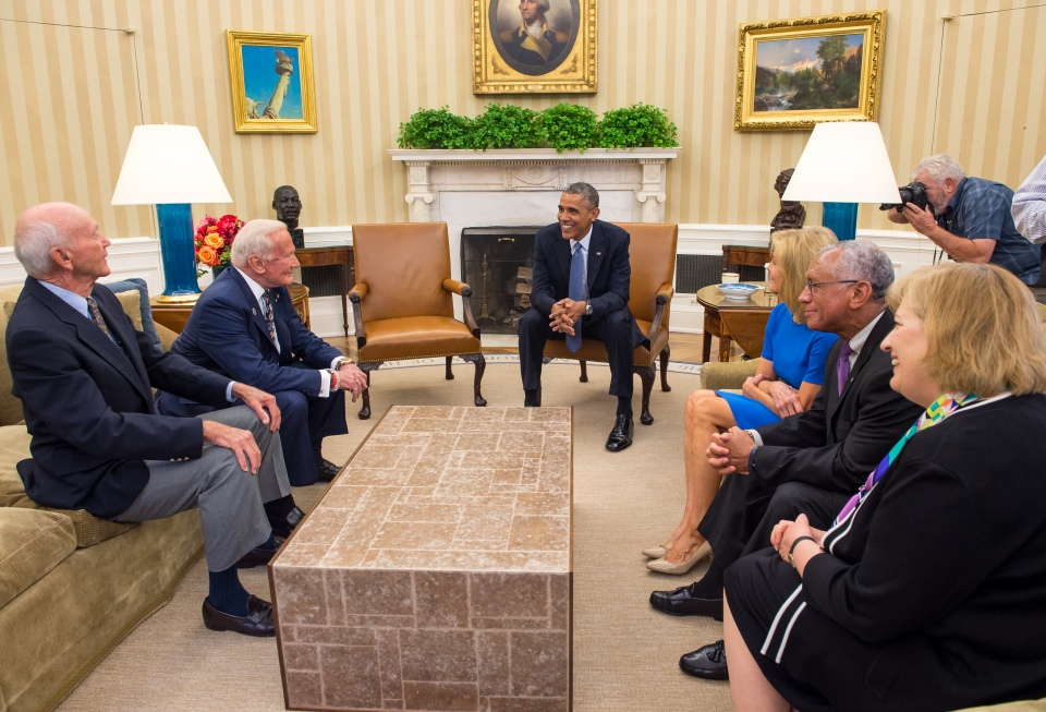 President Obama Meets with Crew of Apollo 11