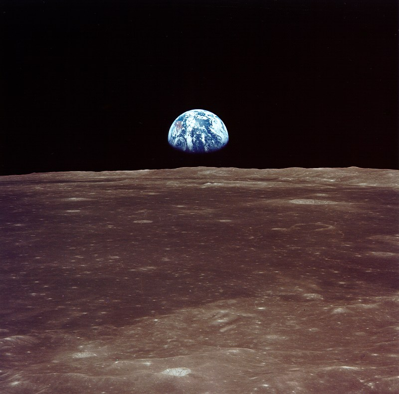 6550_View of earth before Apollo 11 lunar landing
