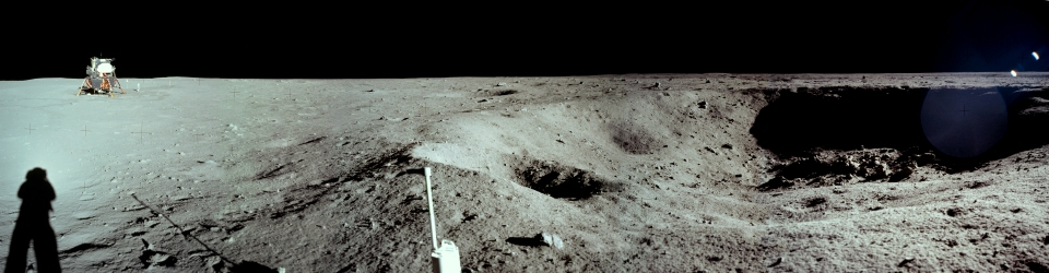 a11pan1111231EvMHR_Panorama Photo of Lunar Module by Armstrong