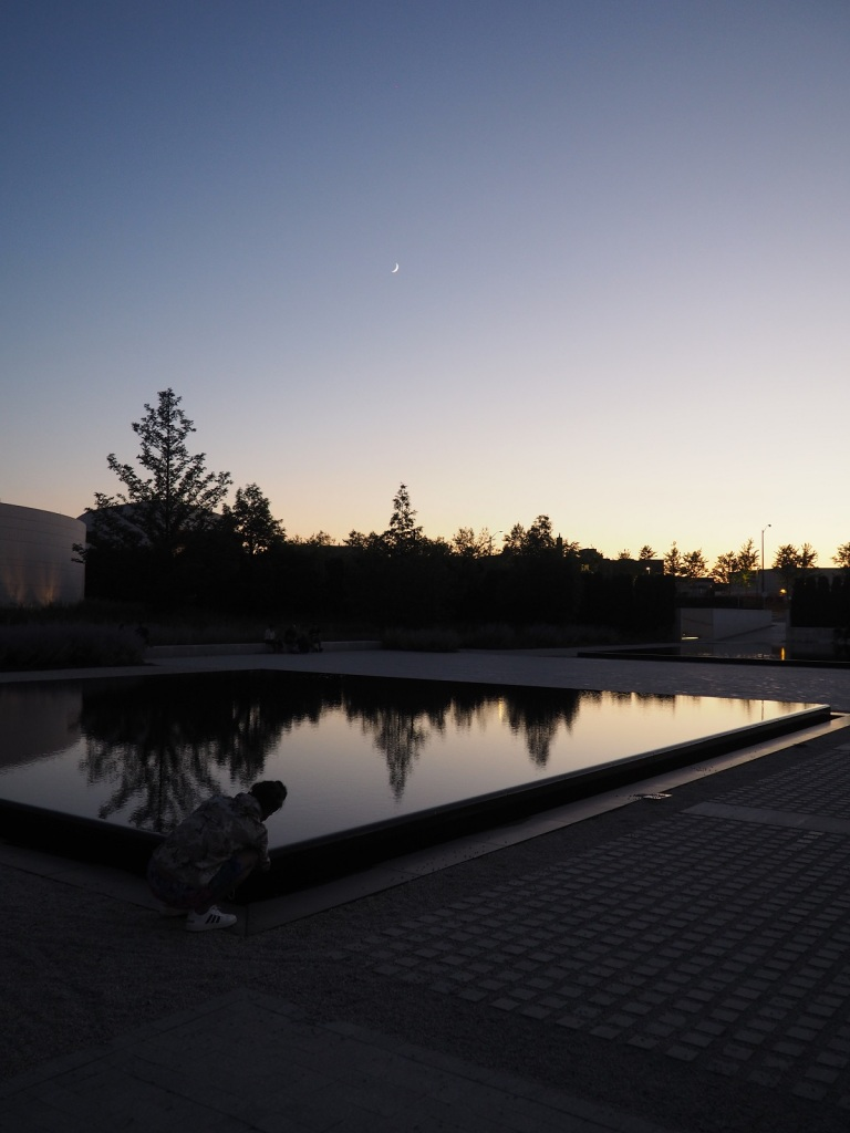 9:09 -10:40 PM: The Crescent Moon above the Aga Khan Park on July 23, 2020. Photo: Malik Merchant / Simergphotos.