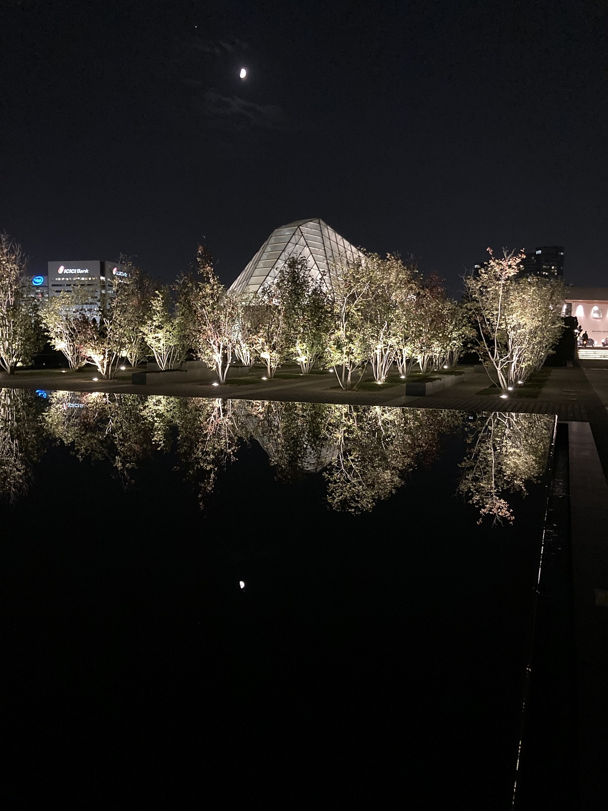 Waxing Moon at Ismaili Centre and Aga Khan Park