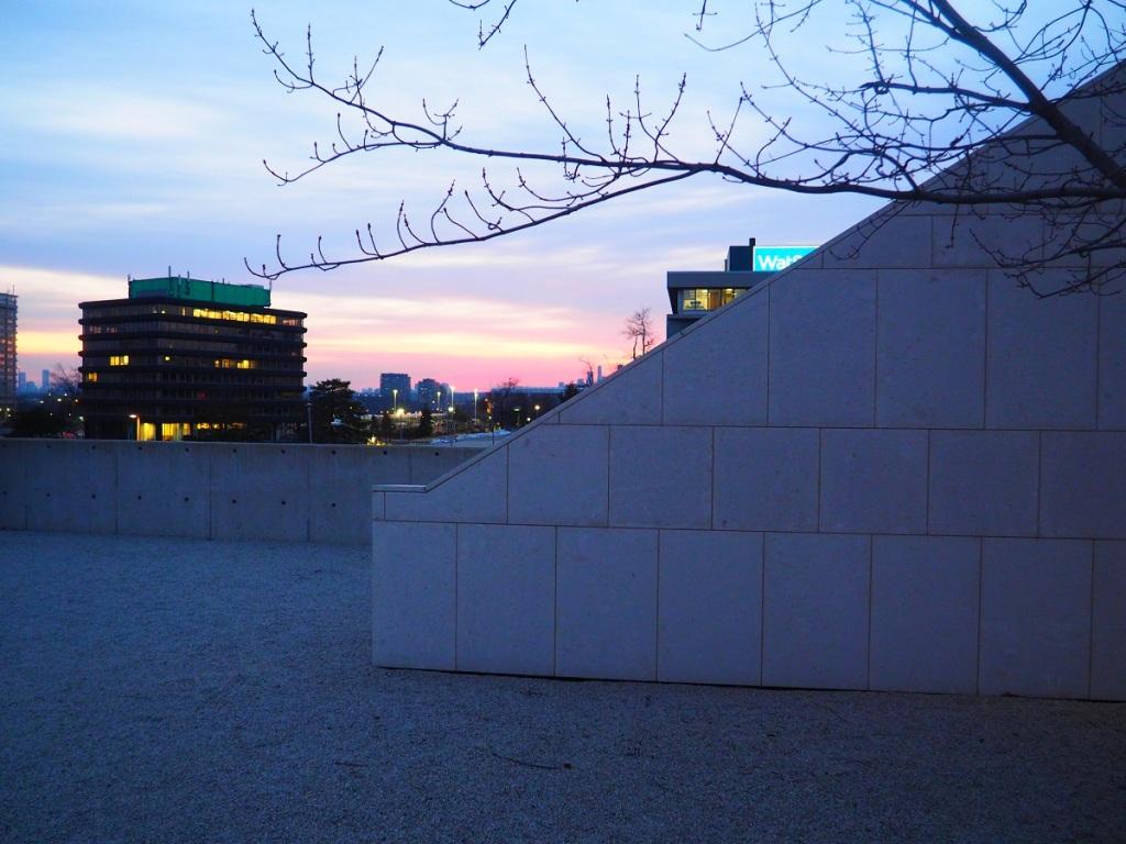 Ismaili Centre Rooftop setting sun, simergphotos Malik Merchant