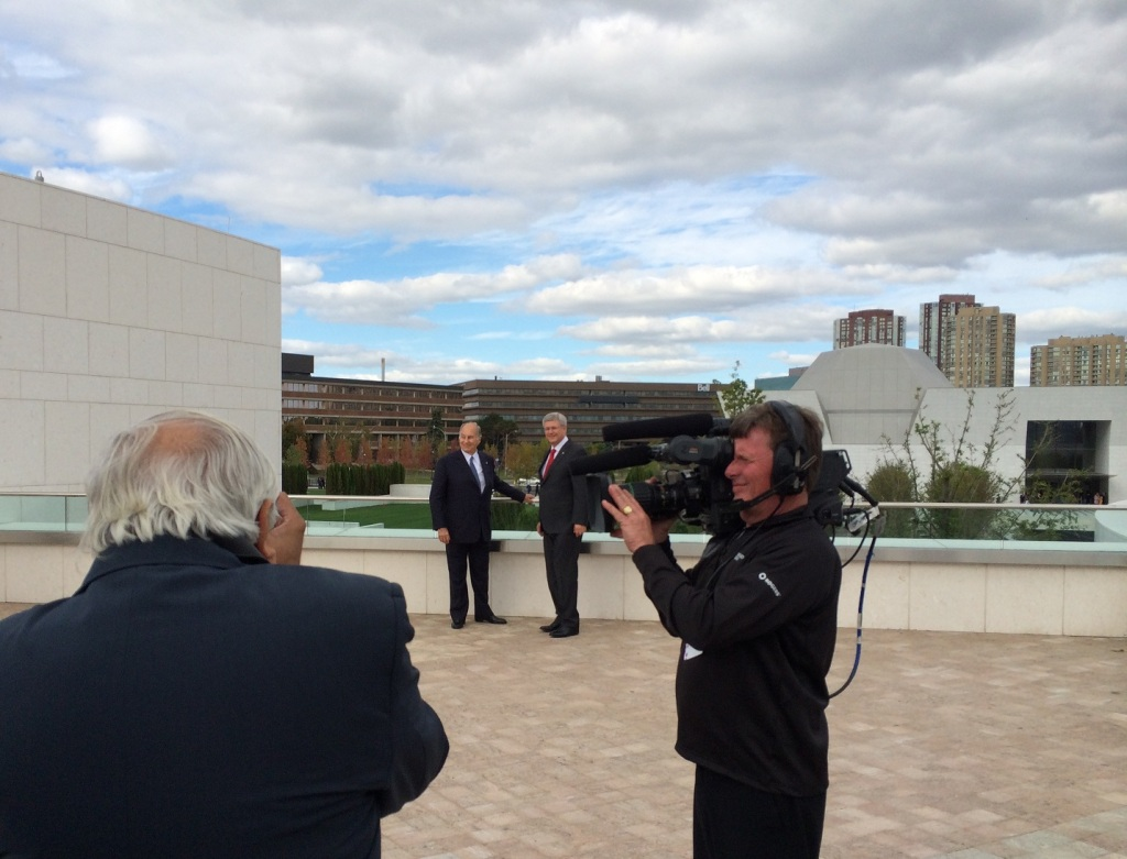 Opening Ismaili Centre Aga Khan with PM Harper September 2014