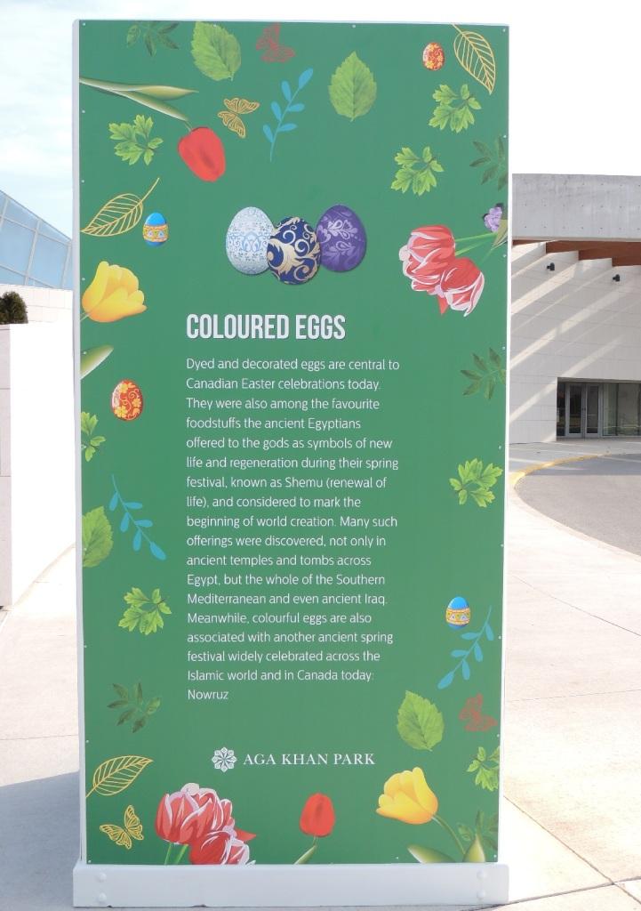 Coloured eggs for the Persian New Year, Aga Khan Park.