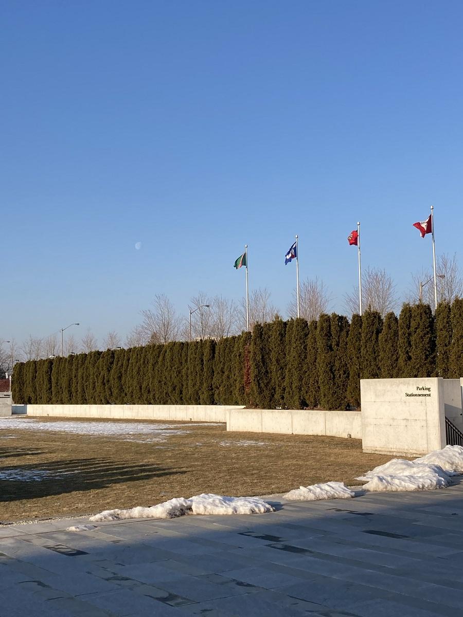 Aga Khan Park Day Time Moon