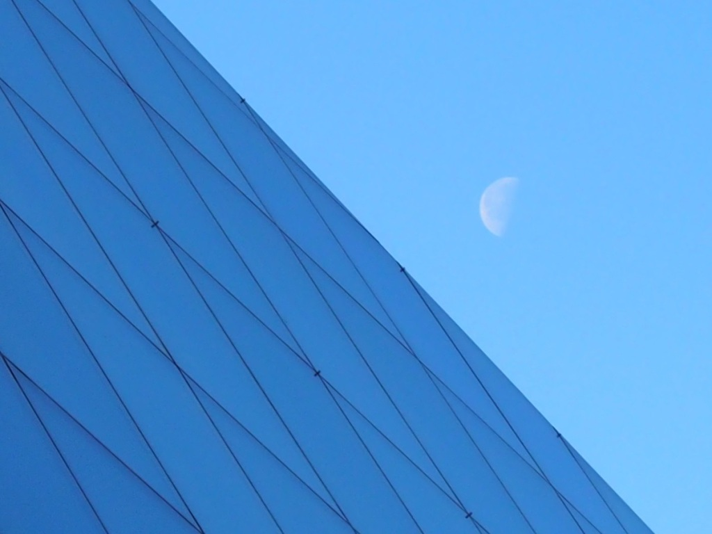 Third quarter moon at Ismaili Jamatkahana Toronto Simerg
