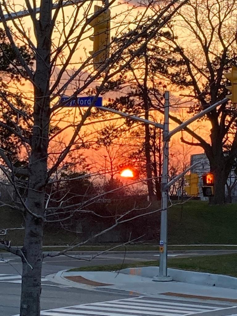 Sunset Toronto from Aga Khan Museum