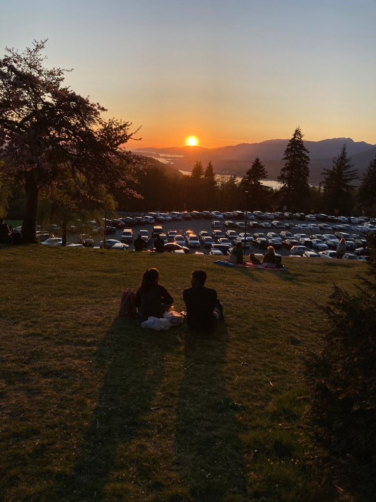 Sunset in Vancouver as viewed from Burnaby Mountain Park Simerg photos malik merchant