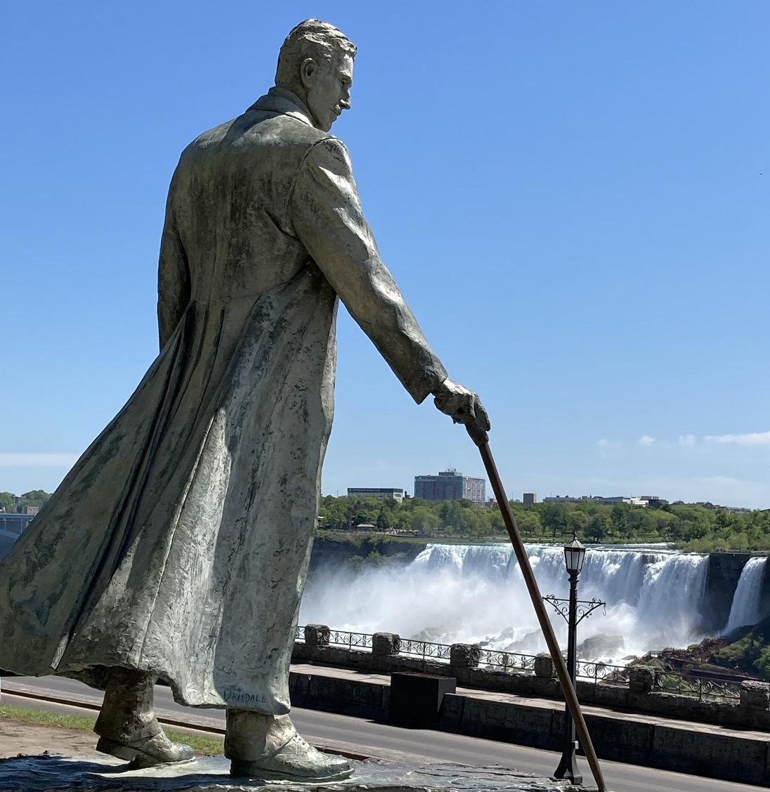 Nicolas Tesla at Niagara Falls,