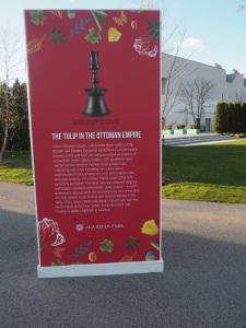 Aga Khan Park panel display on The Tulip in the Ottoman Empire. Simergphotos.