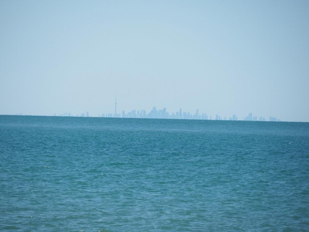 Toronto downtown skyline across Lake Ontario from Niagara on the Lake,
