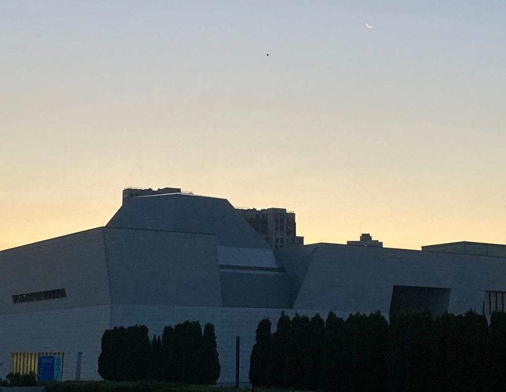 Waning crescent moon Aga Khan Museum